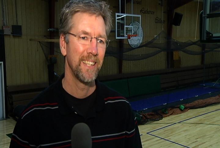 Immanuel Lutheran head coach Mark Kranz