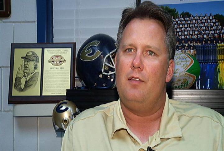 UWEC head coach Todd Glaser