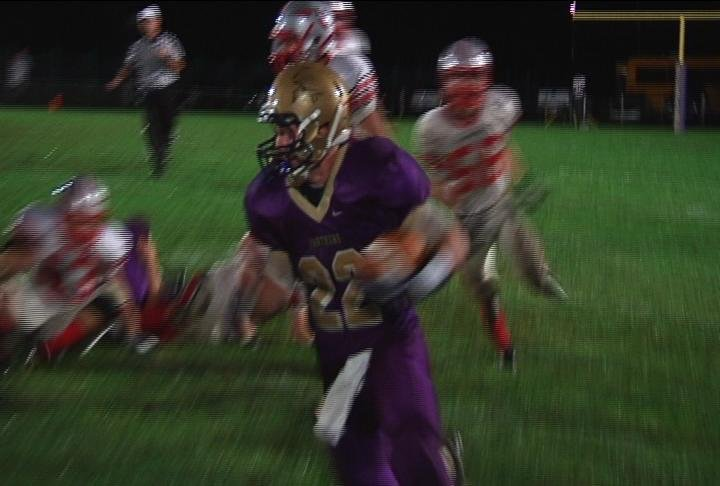 Durand's Jacob Biesterveld runs for 239 yards and 4 TD's in a win over Baldwin-Woodville