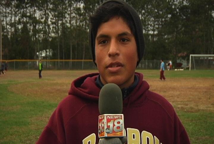 Barron senior forward Pedro Ramirez