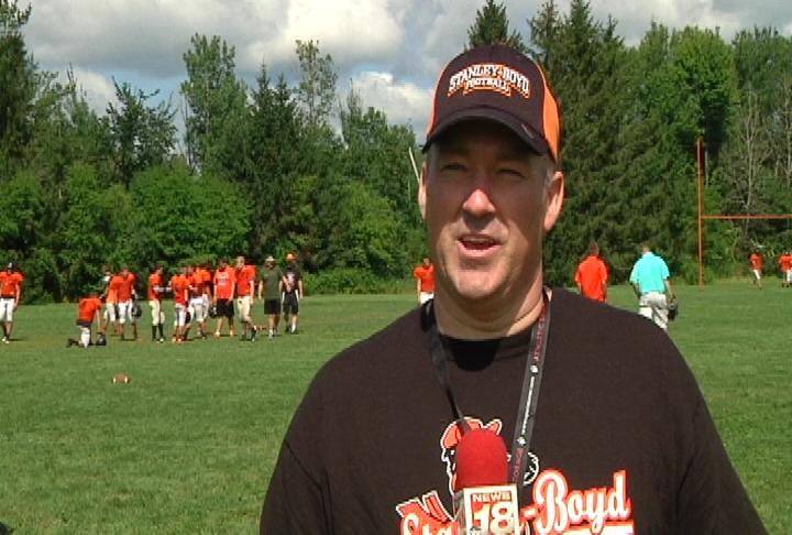 Stanley-Boyd head coach Jeff Koenig