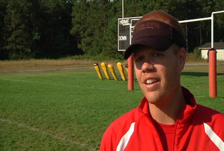 Eleva-Strum head coach Chad Hanson
