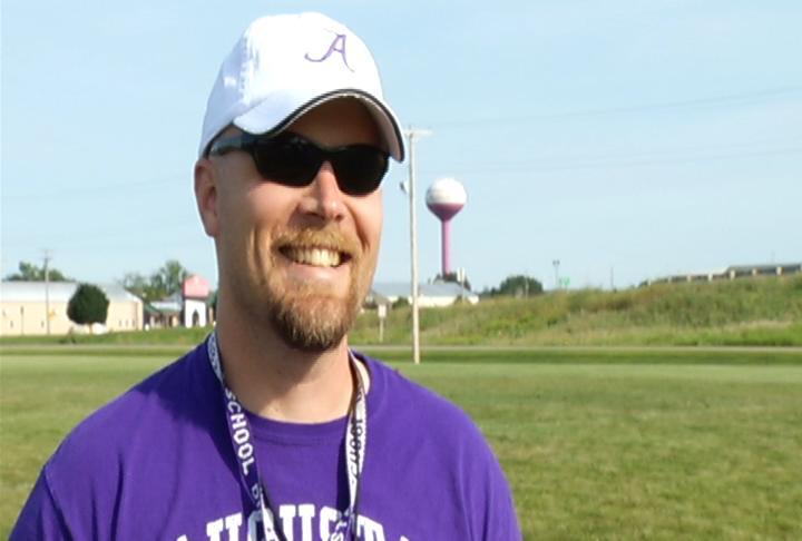 Augusta head coach Andy Jarzynski