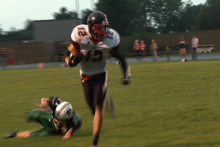 Altoona's Connor Olson heads upfield at Fall Creek