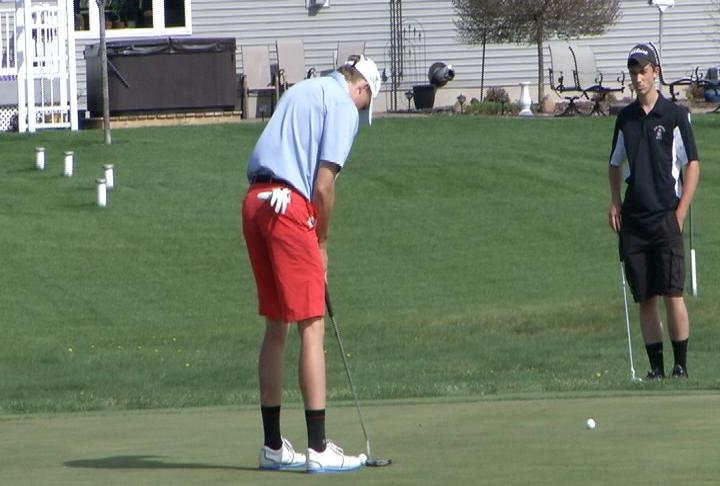 McDonell Central's Thomas Longbella takes medalist honors as the Macks win at Lake Wissota G.C.