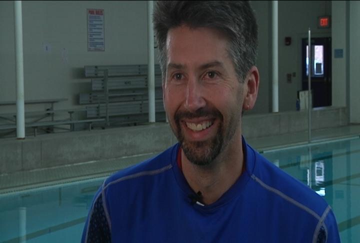 Eau Claire Alliance swim coach Dylan Leonard