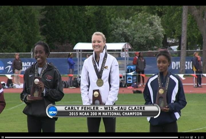 UWEC's Carly Fehler wins three national titles on Saturday
