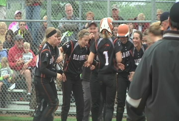 Bloomer celebrates an Aliya Seibel homer