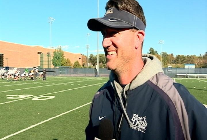 UW-Stout head coach Clayt Birmingham