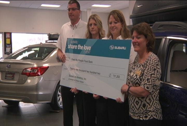 Chilson Subaru Donates Over 21k To Feed My People Food
