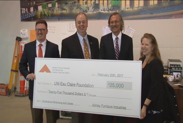 Ashley Furniture Makes $25,000 Donation To Confluence Arts Center ?