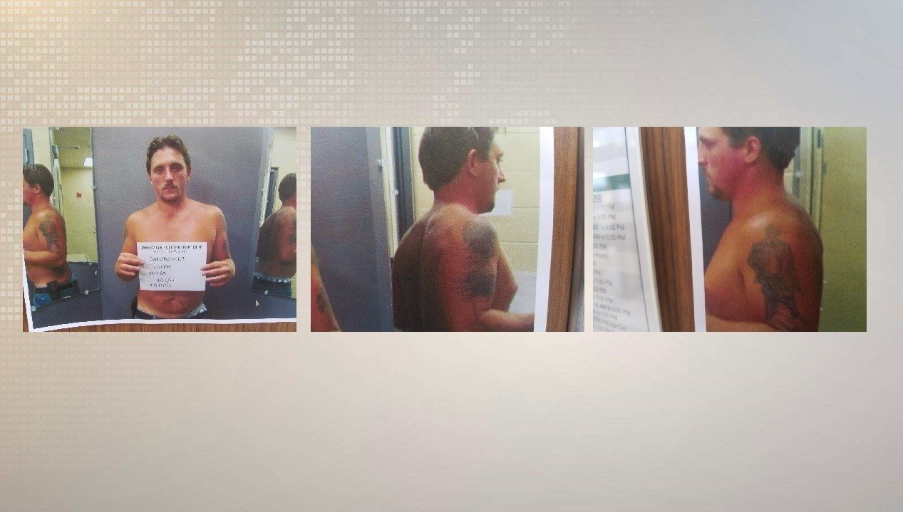 New photos of janesville fugitive 39 s tattoos displayed for Eau claire tattoo