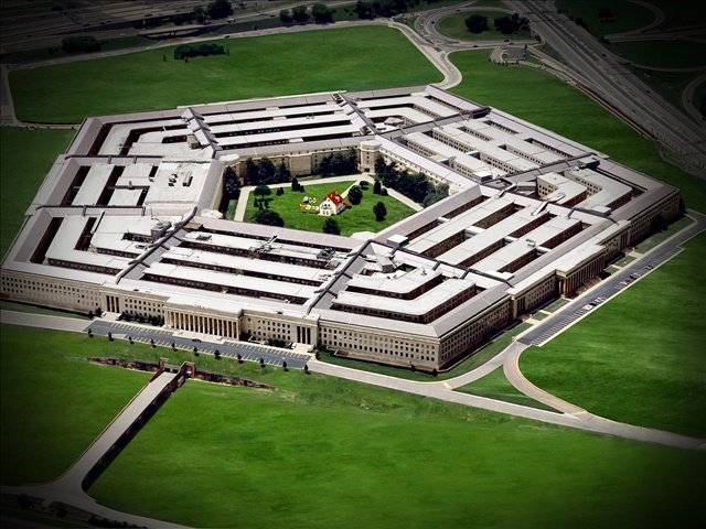 artistic rendition of the pentagon allegory