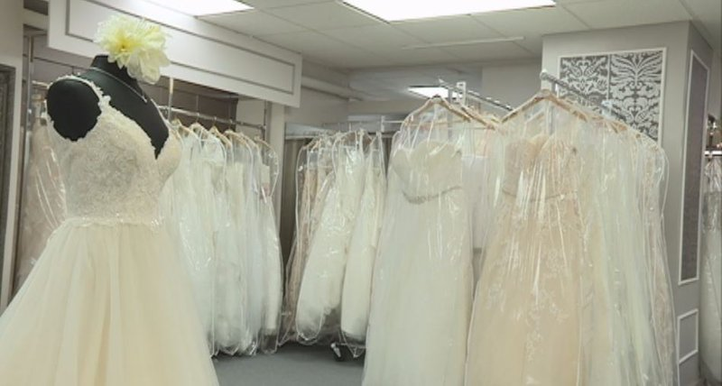 Chippewa falls bridal shop expects new trends after royal for Wedding dresses eau claire wi