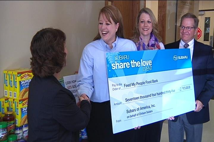 Chilson Subaru Donates Over 17k To Feed My People Food