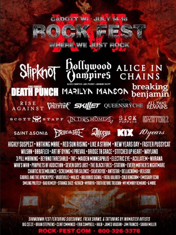 Rock Fest Announces  Lineup
