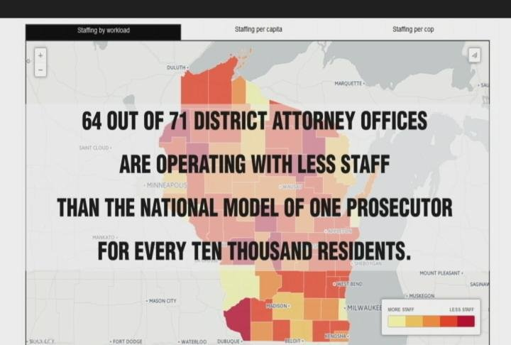 64 our of 71 Wisconsin counties operate below the national staffing model
