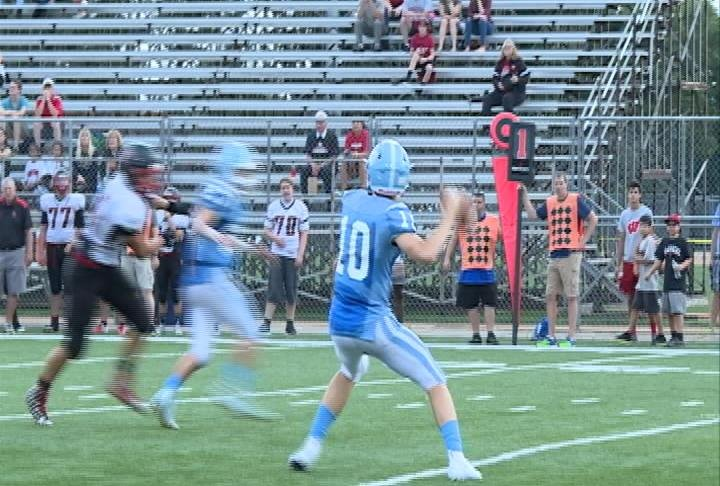 Eau Claire North's Bennett Mayer with the long pass